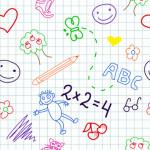 baby school vector seamless pattern