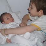 Gyermekágyon két gyerekkel